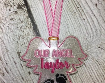 Our Angel - Infant Loss - Child Loss Ornament - Key Fob Design - DIGITAL EMBROIDERY Design