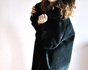 Faux-fur coat, vintage,  Size : M/L