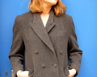Sailor coat, grey jacket, vintage