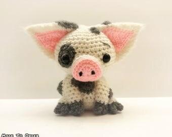 Crochet Pua / Pig Plush (Inspired by Disney's Moana)