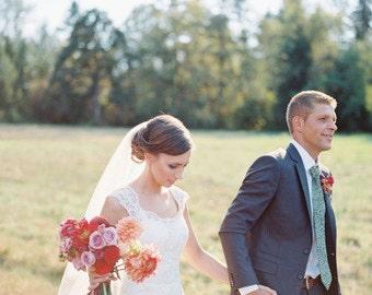 Fingertip length Wedding Bridal Veil white, ivory, Wedding veil bridal Veil Fingertip length veil bridal veil cut veil Tulle veil