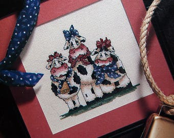 Home Is Where The Herd Is 9 Designs By Rose Calton Vintage Cross Stitch Pattern Leaflet 1992