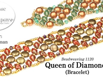 Queen of Diamonds Bracelet (Pattern)