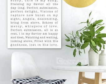 Blessed Assurance - Large Canvas - Really Big - Choose Your Own Words - This Is Our Story - Housewarming Gift - Hymn Art