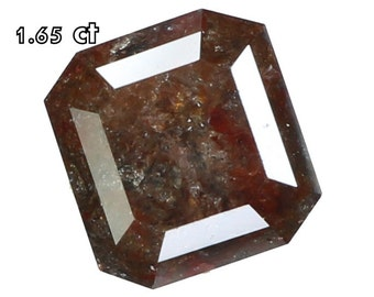 1.65 Ct Natural Loose Diamond Cut Emerald Shape Brown Grey Color L6397