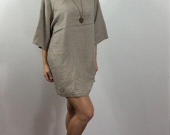 Wide Sleeve Linen Dress / Tunic