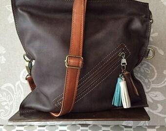 Crossbody bag, brown crossbody purse, leather cross body bag, women leather bag