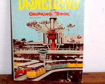 Vintage, Disneyland Coloring Book