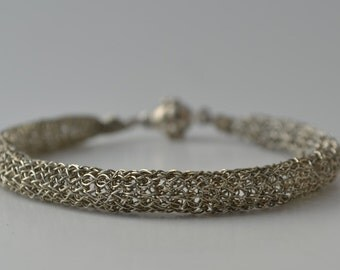 Crocheted Wire Bracelet