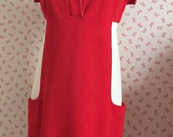 Diane von Furstenberg vintage dress, ,  size  6,  red dress , vintage red dress