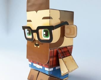 DEXTER Cherry and Denim DIY Paper Toy Craft Activity – Super craft gift for hipster boys and girls, makes a great party craft activity