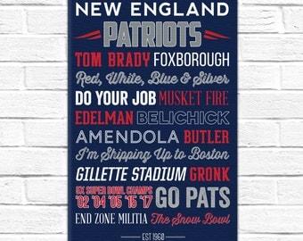 New England Patriots Art - 2017 Super Bowl Champs! Canvas or Poster
