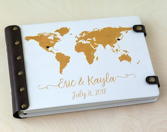 World map guest book etsy custom guest book wedding guest book guest book wedding guestbook travel guest gumiabroncs Choice Image