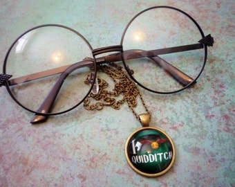 Harry Potter I Love Quidditch Necklace, Harry Potter Necklace, Hogwarts Gift, Pottermore Necklace, Hogwarts House Necklace, Quidditch sport