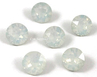 1088 ss39 WHITE OPAL Swarovski Crystal XIRIUS Chaton Pointed Back Round Stone 12 pieces
