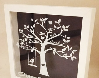 Personalised family tree keepsake frame/Family Tree/Personalised Tree/Family GIft/Mum Gift/Dad Gift/Grandma Gift/Keepsake