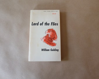 Lord of the Flies by William Glding, 1950s Vintage Paperback, Gift Idea, Retro, Kitsch, Classic