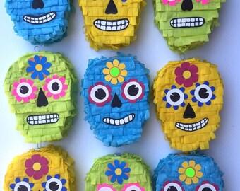 Mini Skull Piñata Party Favors – Set of 3