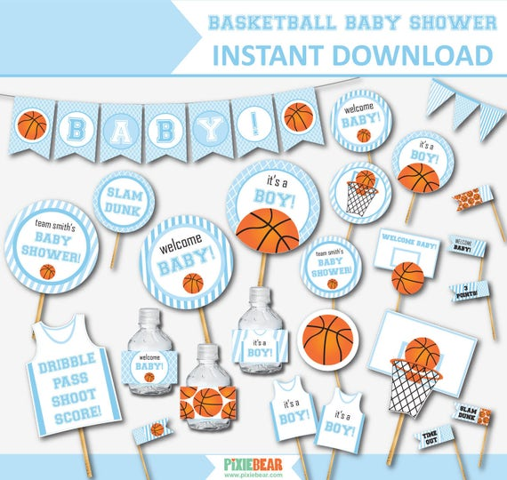 basketball baby shower for boys blue baby shower baby shower decor