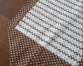 Brown, Polka Dot, Zig Zag, Table Runner, Small Table Runner, Thin, Washable, Border Table Runner, Geometric