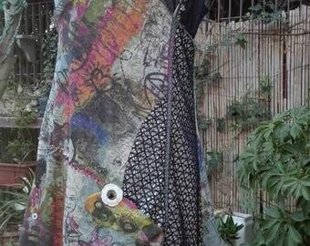 Dress outlet! Unique folk dress embroidery dress woman crazy murals boho