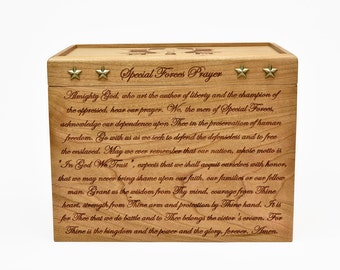 Engraved Keepsake Box - Cherry - Keepsake Box - US Army Special Forces