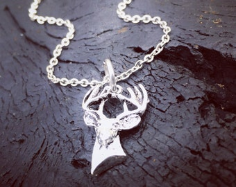 Women's Deer Head Necklace   Hunting Necklace   Buck Necklace   Huntress Necklace   Hunting Season Necklace   Hunting Gift   Gift For Hunter