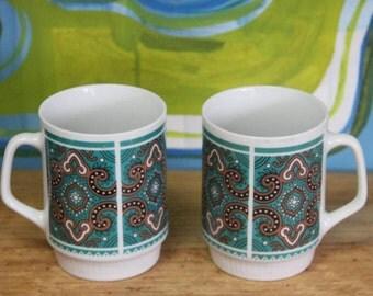 Vintage 1960's  Mugs (set of 2)