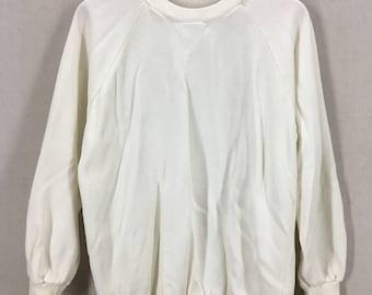 Vintage 70's Single V White Crewneck Sweatshirt Fits like a M/L