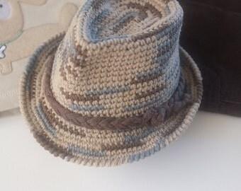 Multicolor Fedora Hat Baby Boy Newborn Photography Baby Boy Shower Gift Cotton Crochet Hat Infant Fedora Cute Baby Hats