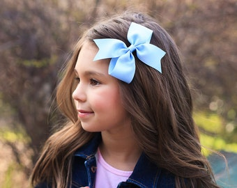 Solid Color Hair Bow, Solid Color Pinwheel Bow, Pinwheel Bow, Toddler Hair Bow, Baby Hair Bow