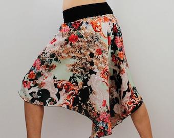 Satin wrap skirt for dance party Tango Milonga
