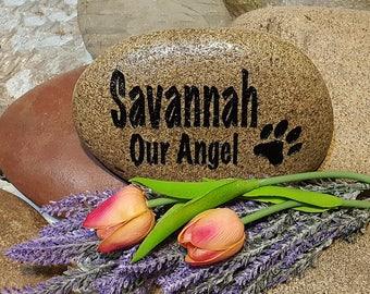 Pet Memorial Stone - Personalized Memorial Stone - Personalized Pet Memorial - Cat Memorial Stone - Pet Marker - Dog Memorial - God Rocks