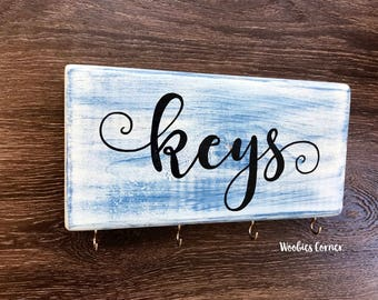 Key holder for Wall, Key Holder, Key Rack, Key Organizer, Housewarming Gift, Custom key holder, Key ring holder, Key hook, Rustic home decor