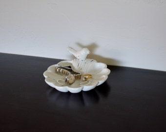 Nature Inspired Bird Dish. Cast Iron Bird Dish. Jewlery Dish. Ring Dish. Bird Decor. Bride Dish. Wedding Dish. Soap Dish, Bathroom