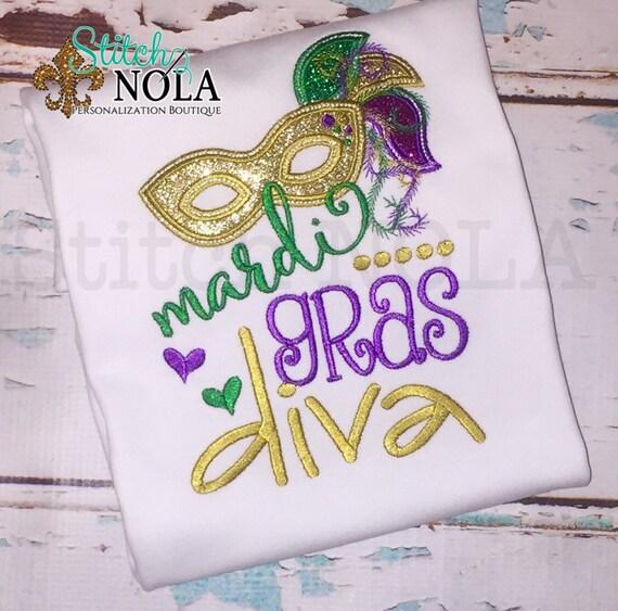 Mardi Gras Diva Mardi Gras Shirt or Bodysuit
