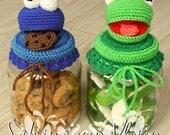 English Cookiemonster - Kermit the Frog cookiejar pattern