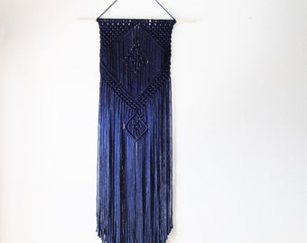 Navy Colored Macrame Wall Hanging