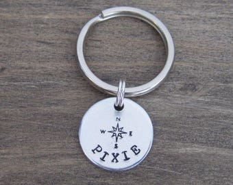 Small Pet ID Tag - Cat Tag - Small Dog Tag - Kitten Tag - Bridle Tag - Hand Stamped Aluminum