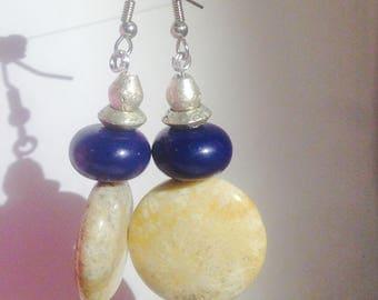 the CLAMSHELLS || drop earrings