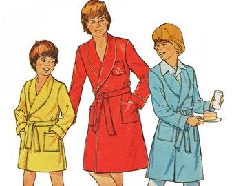 Boys Robe Pattern Bathrobe Pattern Dressing Gown Pattern Vintage 1970s Sewing Pattern Simplicity 7066 Size 7 8 UNCUT