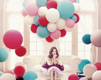 36 inch Balloons,  Round Latex Balloon, GOLD Balloons, Ivory Balloon, Blush Balloon, Lavender Balloon, Turquoise Balloon