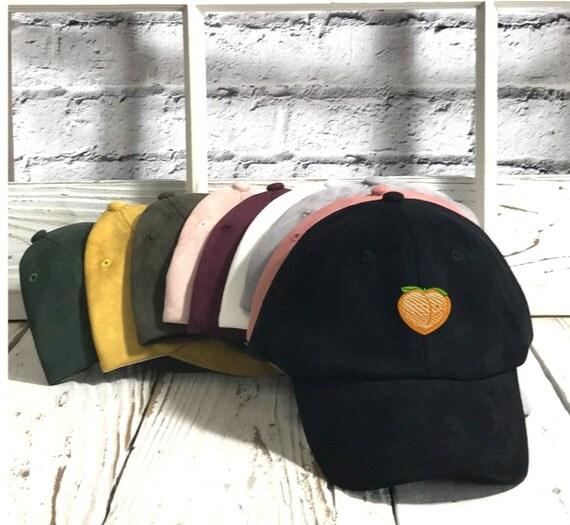 Peach Emoji Dad Hat | Peach Emoji | Suede Dad Hat | Peach Emoji Hat | Dad Hat Tumblr | Dad Hats | Peach Emoji Cap | Dad Cap Trends