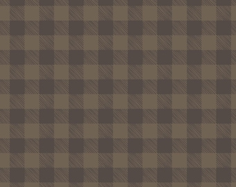 Brown Glen Plaid Fabric, Patrick Lose Let's Go Camping SPR 63939-2160715, Bare Necessities, Brown Check Quilt Fabric, Plaid Quilting Cotton