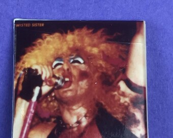 Twisted Sister Original 1980s Vintage Dead Stock Square Pin