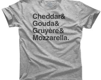 I Love Cheese Shirt - Cheese Lover Gift - Cheddar Gouda Mozzarella - Gifts for Foodies - Foodie Shirt (See SIZING CHART in Item Details)
