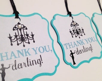 Breakfast at Tiffany's Party Tags (Bridal Shower, Birthday Party, Gift Tags)