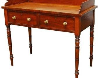 19th Century English Mahogany Writing Table