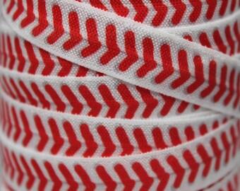 Baseball FOE -Fold Over Elastic 5/8 inch by the yard...Print FOE, Headbands, Hair Ties and More!