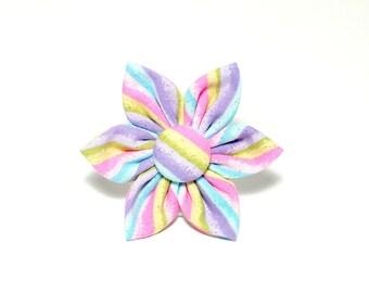 Easter Glitter Stripes Flower for Dog collar, Cat collar, collar flower, pet collar flower, wedding flower, flowers for dog collars